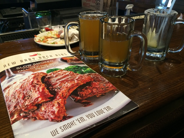 Chili's beer and menu
