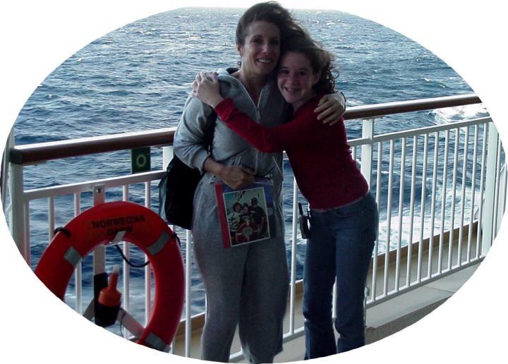 Elyse and Elissa on Norwegian Dawn-Dec. 2003